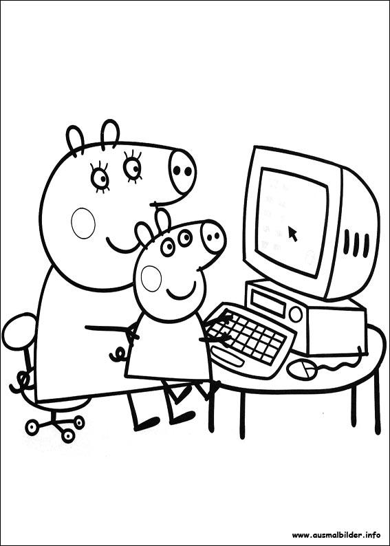 Ausmalbilder Von Peppa Pig Zum Drucken