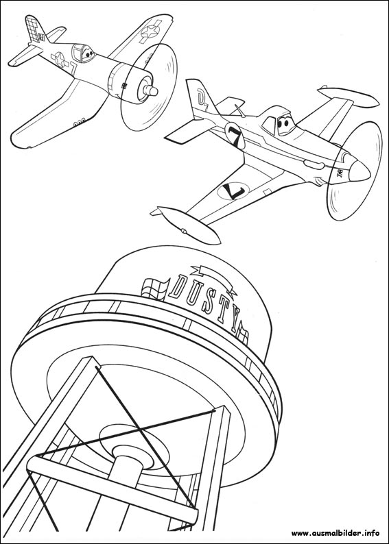 Heliocopter Coloring Page