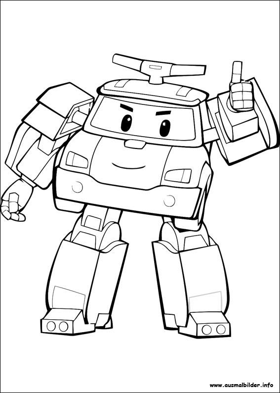 Раскраски для детей поли робокар