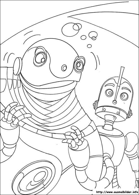 Robots malvorlagen