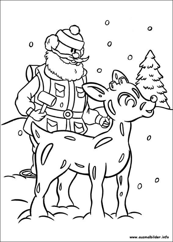 HD wallpapers coloring pages rudolph red nosed reindeer