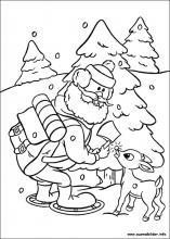 Ausmalbilder Von Rudolph Mit Der Roten Nase Zum Drucken