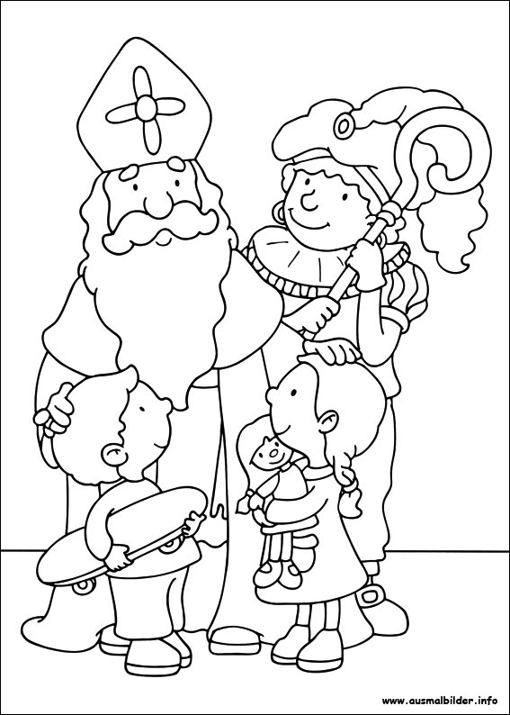 Free Coloring Pages Of St Nicholas St Nicholas Coloring Page