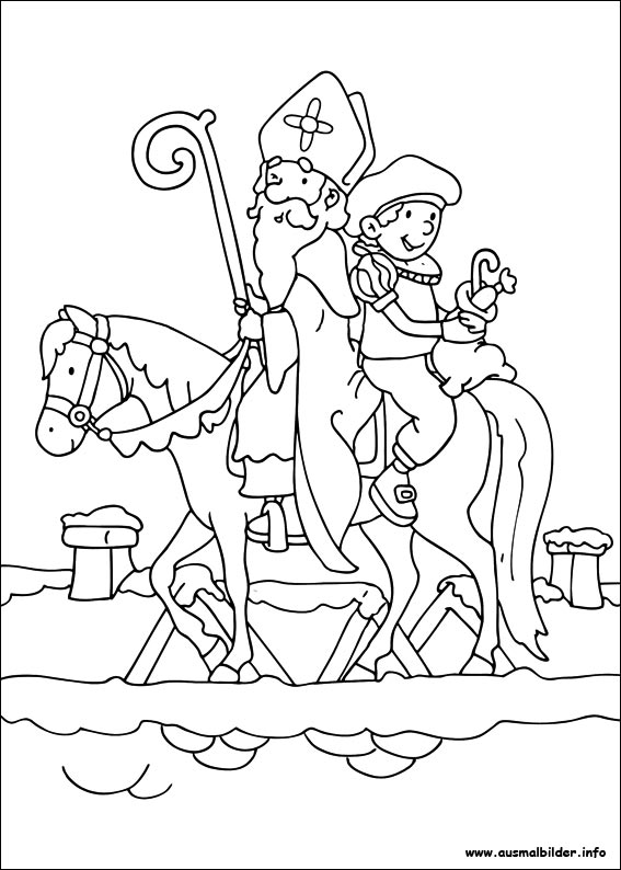 Sankt nikolaus malvorlagen - Image de saint nicolas a imprimer ...