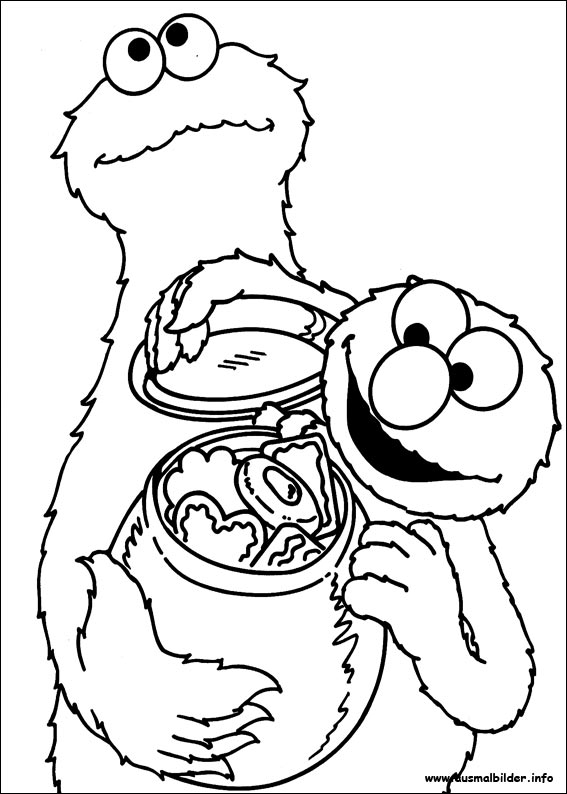Cookie Monster Birthday Coloring Pages
