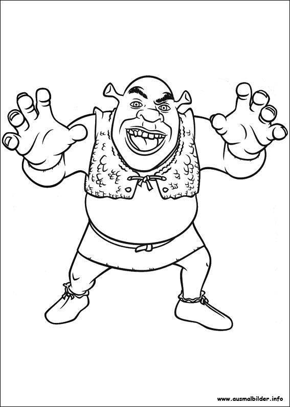 Ausmalbilder von Für immer Shrek zum Drucken