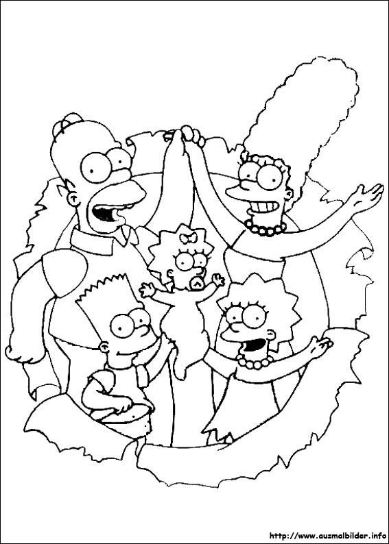 Die Simpsons malvorlagen