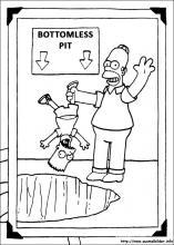 Ausmalbilder von Die Simpsons zum Drucken