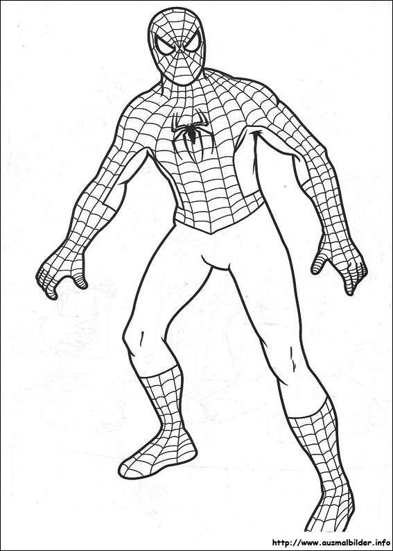Malvorlagen Ausmalbilder Spiderman: Spider-Man Malvorlagen