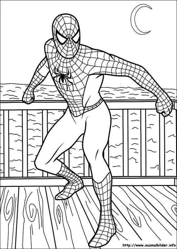 spider man ausmalbilder