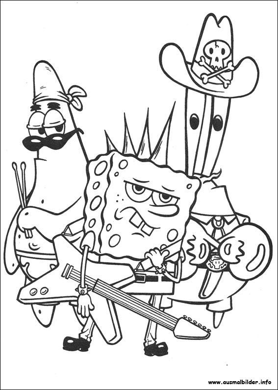 ausmalbilder spongebob  malvorlagen zeichnen