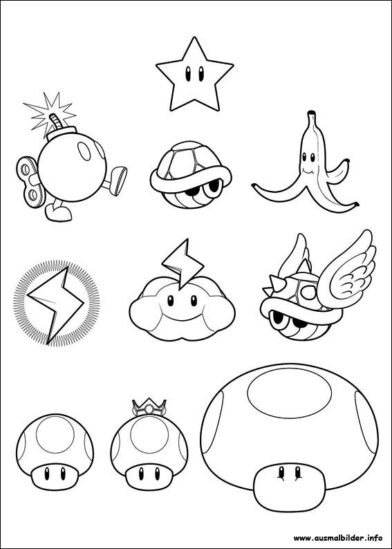 Super Mario Bros 2 Coloring Pages