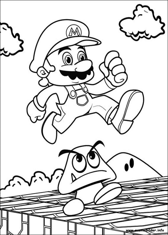 pictures of mario kart colouring pages - nivucolorhd