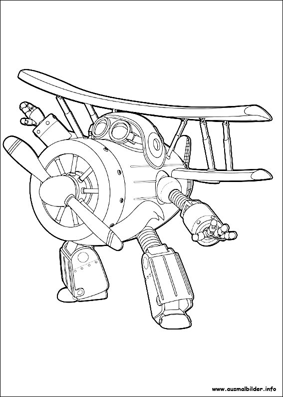 Ausmalbilder von Super Wings zum Drucken
