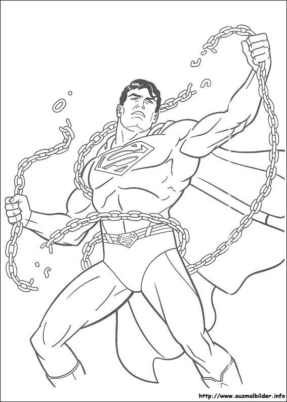 Ausmalbilder Von Superman Zum Drucken
