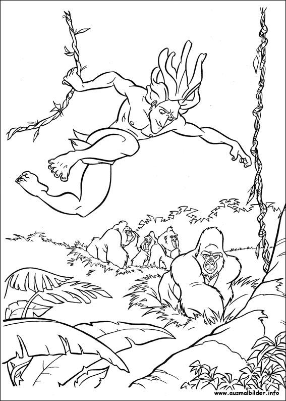 Tarzan Malvorlagen