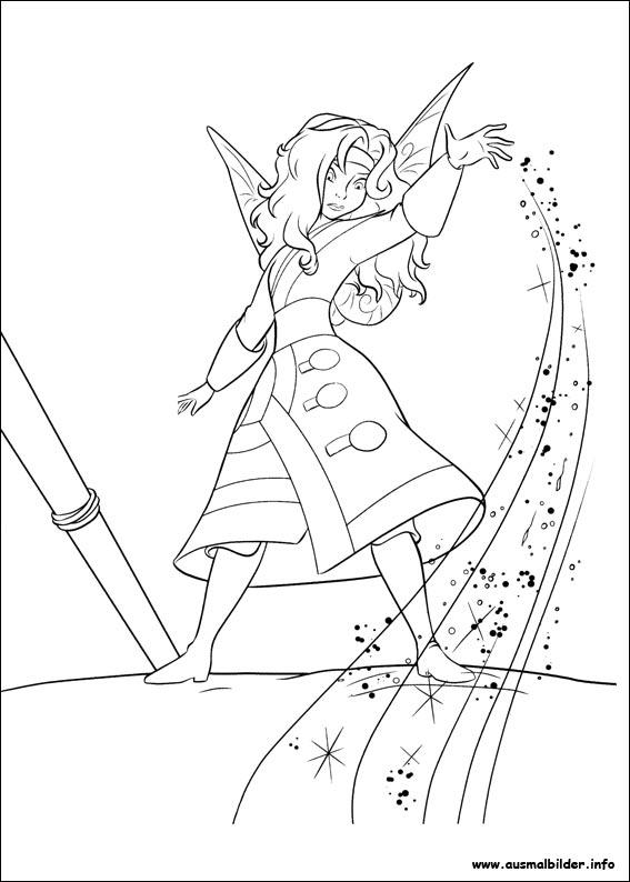 TinkerBell und die Piratenfee malvorlagen