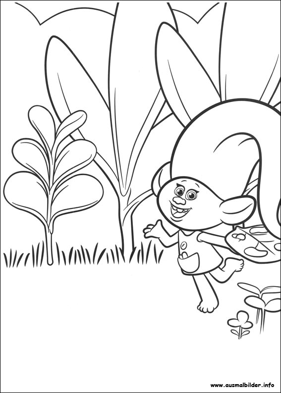Trolls malvorlagen for Trolls smidge coloring page
