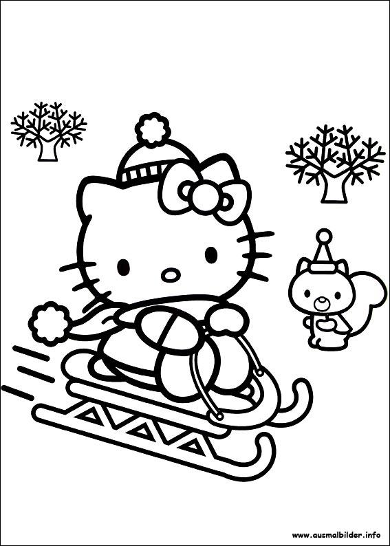 hello kitty weihnachten ausmalbilder