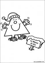 Ausmalbilder von Weihnachten unter Freunden zum Drucken