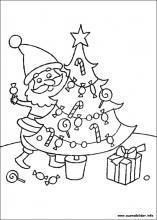Ausmalbilder von Weihnachten zum Drucken