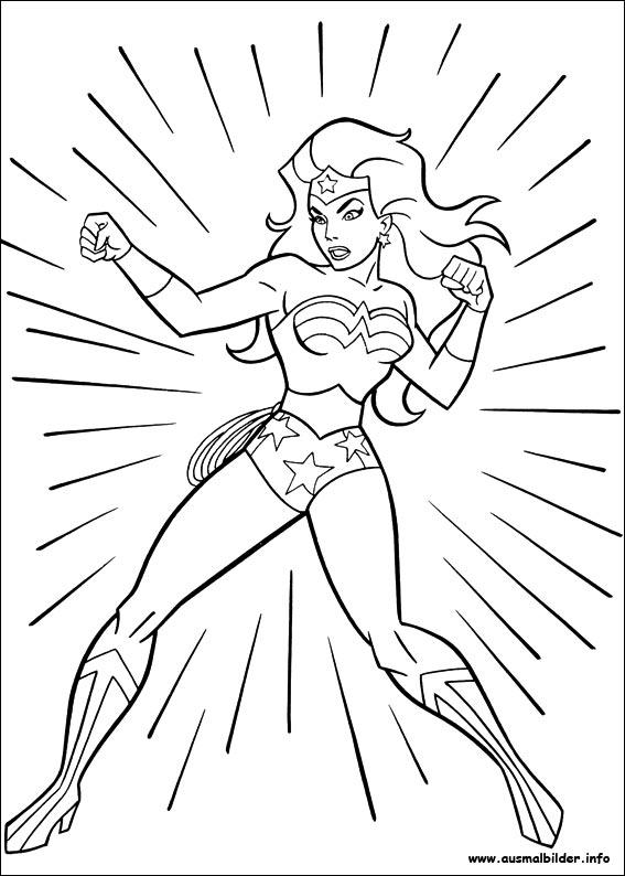 Ausmalbilder von Wonder Woman zum Drucken