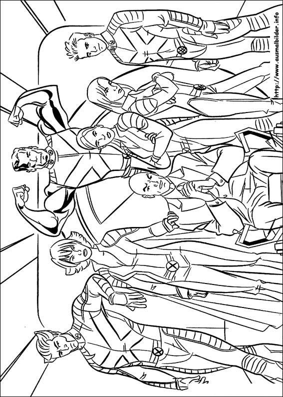 X-Men malvorlagen