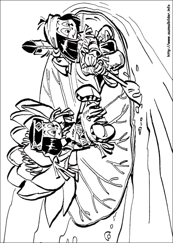 Native American Girl Coloring Page