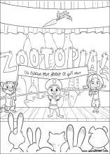Ausmalbilder Von Zoomania Zum Drucken