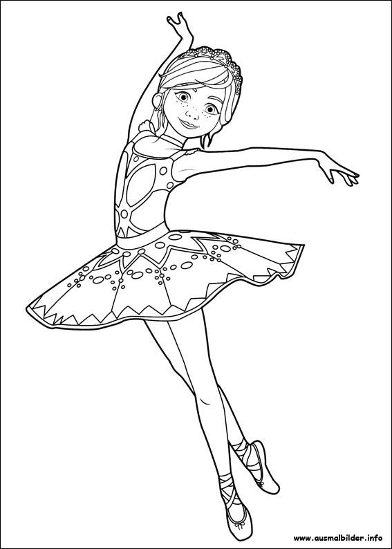 ballerina malvorlagen