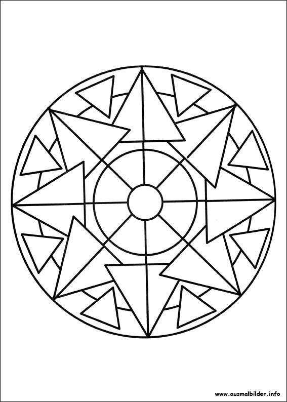 mandalas malvorlagen