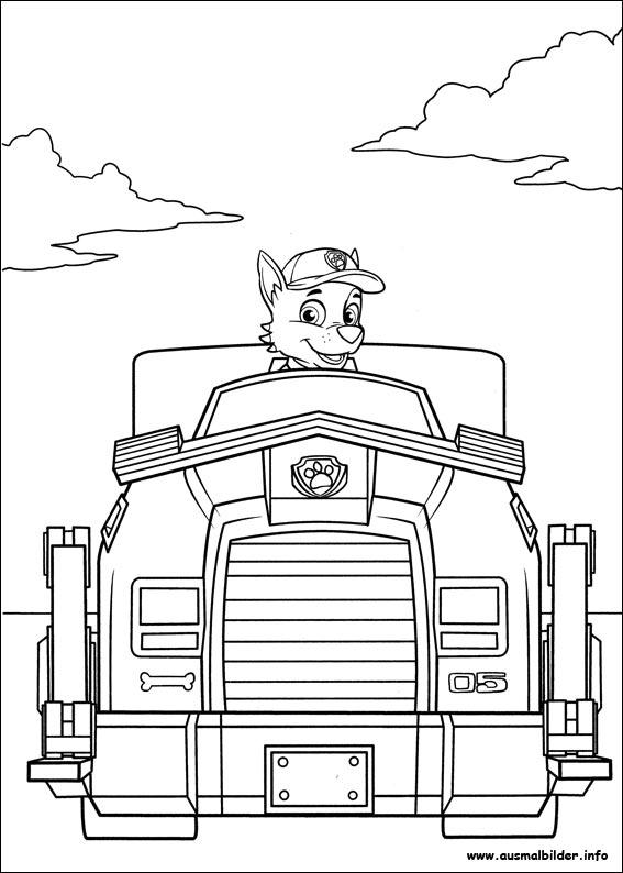 paw patrol malvorlagen
