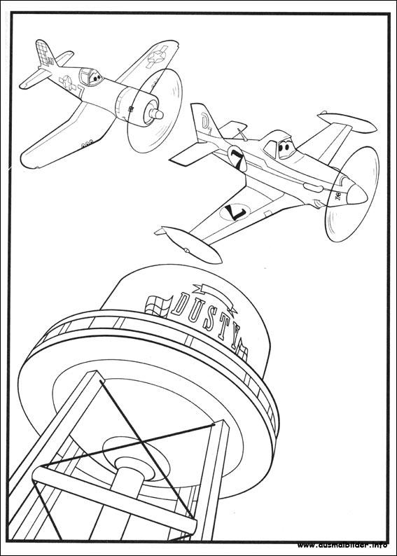 planes 2  immer im einsatz malvorlagen
